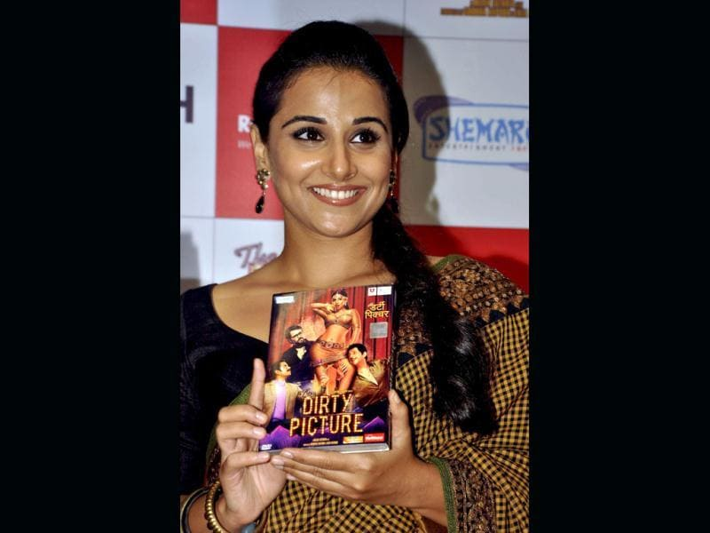 Vidya Balan released the DVD of her latest raunchy flick Dirty Picture along with the cast and crew of the film in Mumbai.