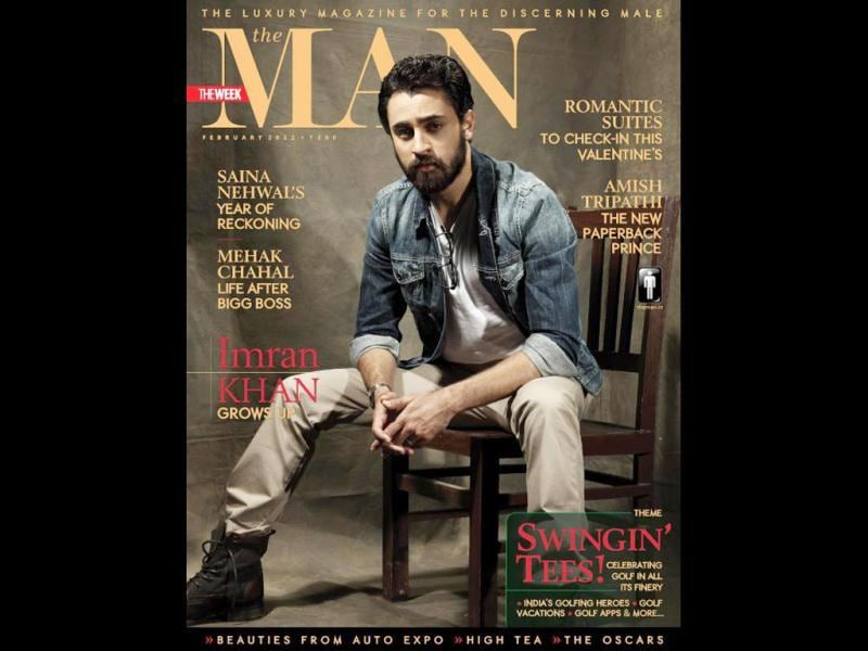 Imran Khan in his latest bearded look on the cover of The Man.