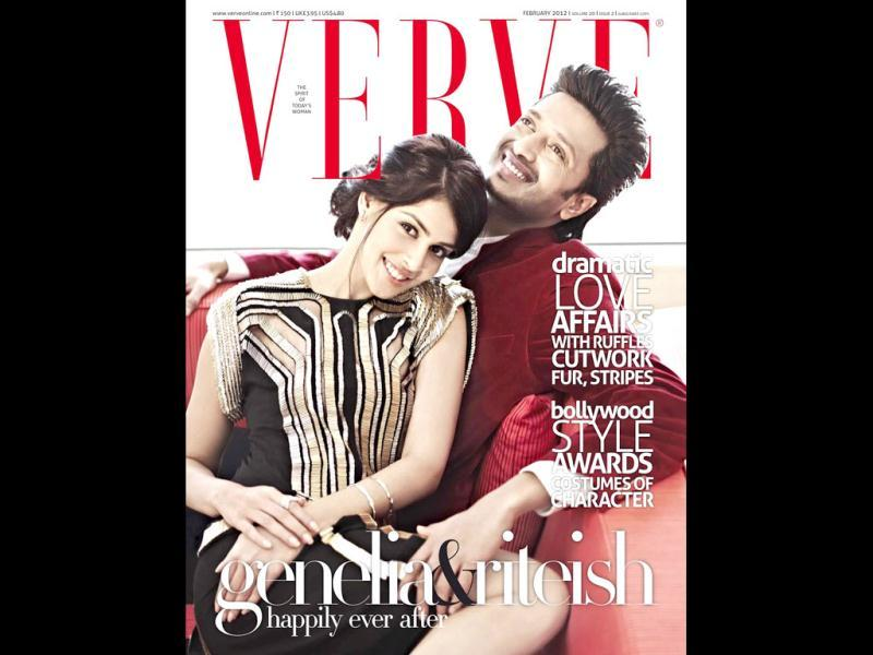 Genelia-Riteish grace the cover of Verve, tagged as 'happily ever after.'
