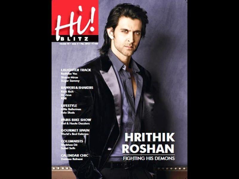 Bollywood's Greek God Hrithik Roshan is on the cover page of Hi! Blitz.