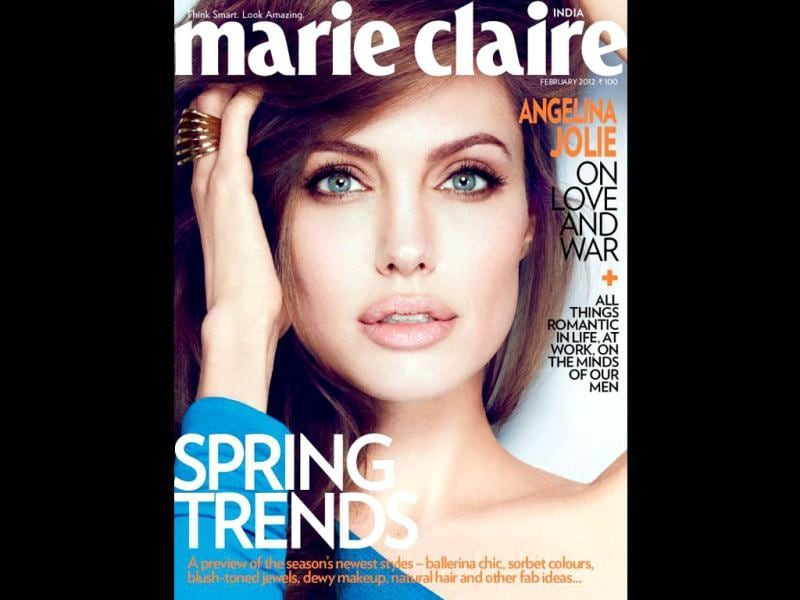 Angelina Jolie dazzles on the cover of Marie Claire India.