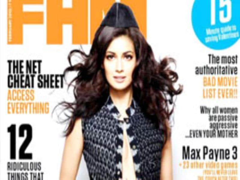 Diya Mirza goes bold for the February issue of FHM, giving a sneak peek of what lies beneath her jacket.