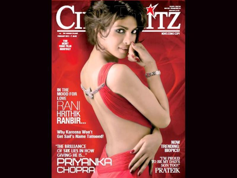 Sensuous Priyanka Chopra flaunts her sexy back on the cover of Cine Blitz.