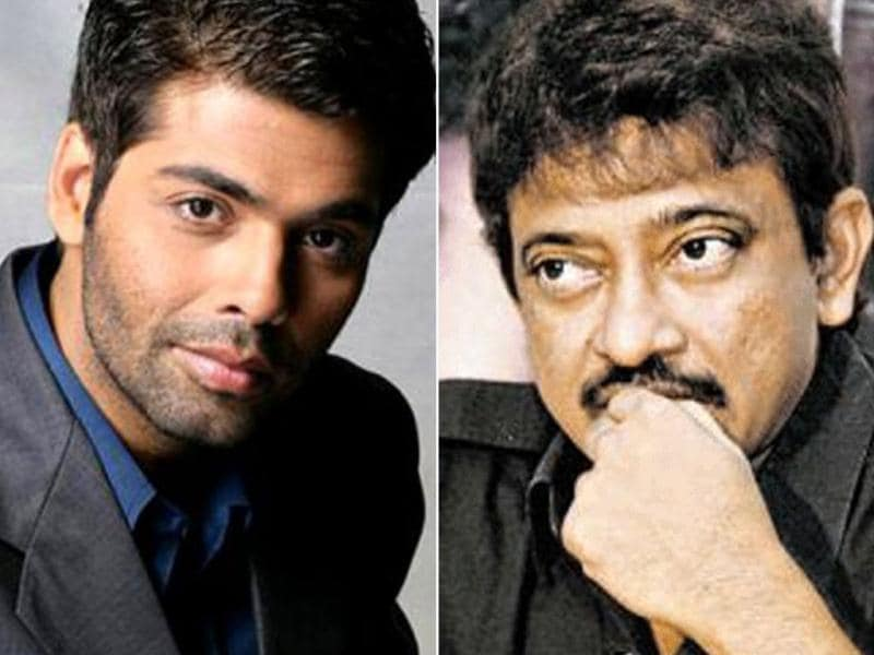 Karan Johar and Ram Gopal Varma never miss a chance to take a dig at each other's films, whether it's on shows or on Twitter.