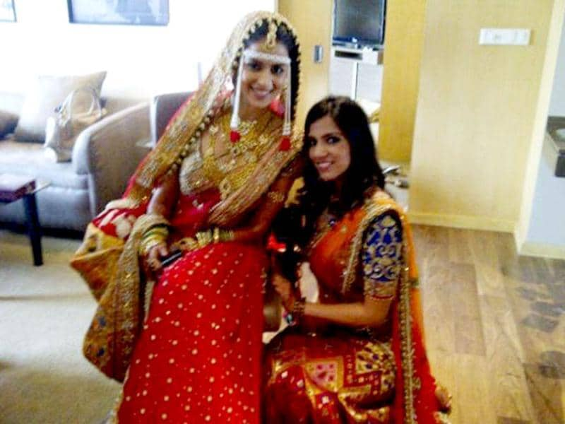 Genelia D'Souza dresses up for the big day.