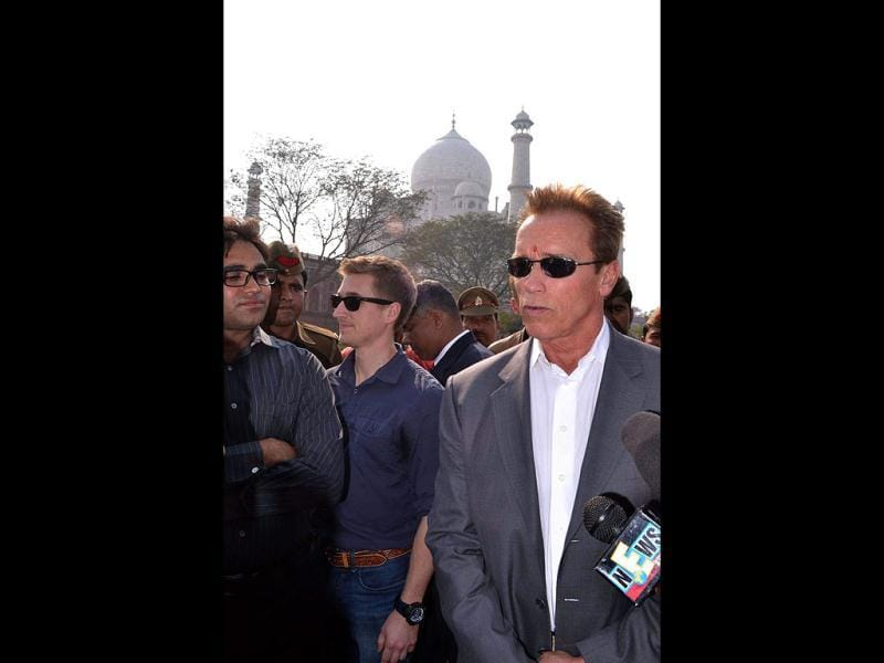 Arnold Schwarzenegger told a TV channel he would consider acting in Bollywood if offered an interesting script with a good director.