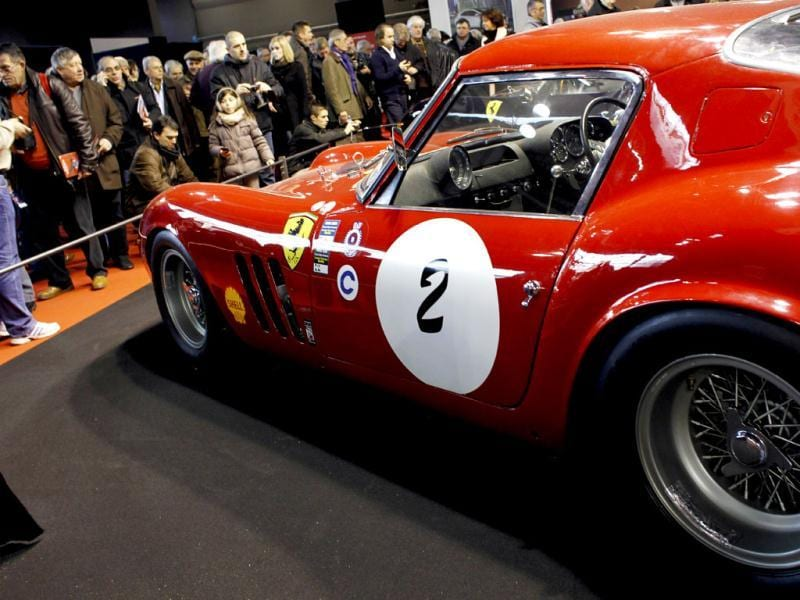 A Ferrari 330 GTO is exhibited as part of the Paris Retromobile classic car show. AFP/Thomas Samson