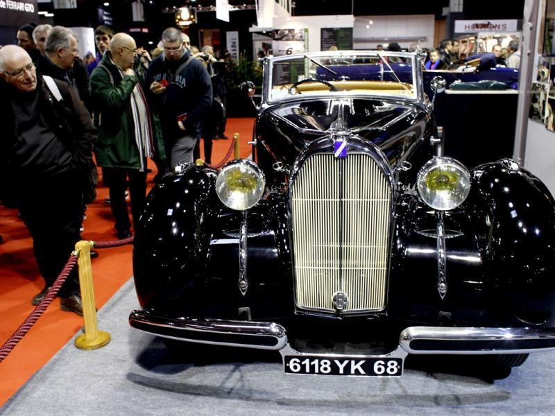 Talbot T150C of 1937 is exhibited as part of the Paris Retromobile classic car show. AFP/Thomas Samson