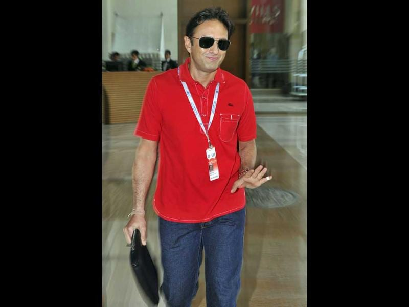Owner of Kings XI Punjab Ness Wadia arrives for the players' auction for the fifth edition of the Indian Premier League (IPL) cricket in Bangalore. AFP PHOTO/Manjunath Kiran