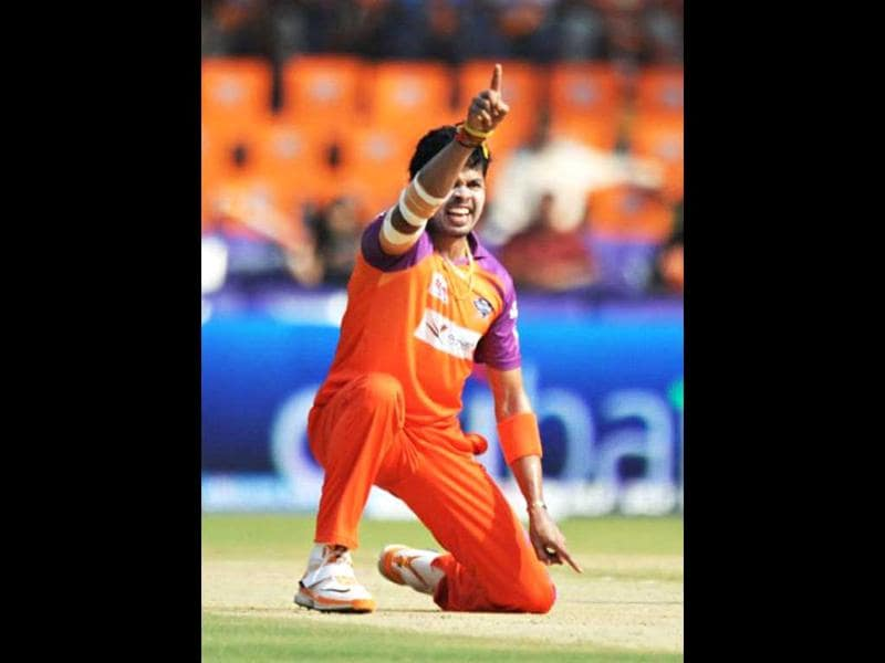 Rajasthan Royals bought S Sreesanth at his base price of $400,000, though the injured paceman's participation in IPL-5 is still doubtful. AFP PHOTO
