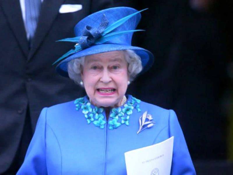 Britain's Queen Elizabeth II arrives at St Paul's Cathedral in London 24 October 2005,to attend a Service of Thanksgiving and Rededication to celebrate the Sixtieth Anniversary of the United Nations Organisation. File Photo. AFP Photo