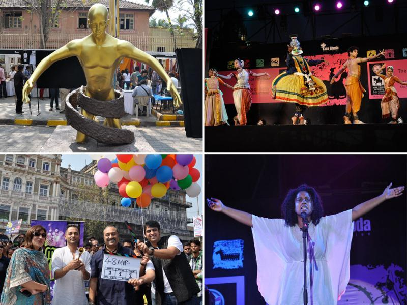 Kala Ghoda Arts Festival's 14th edition kicked off on Saturday with a bang. This season would see a lot more art compared to last year. The event is buzzing with music, dance, food stalls and theatre workshops. Take a look.