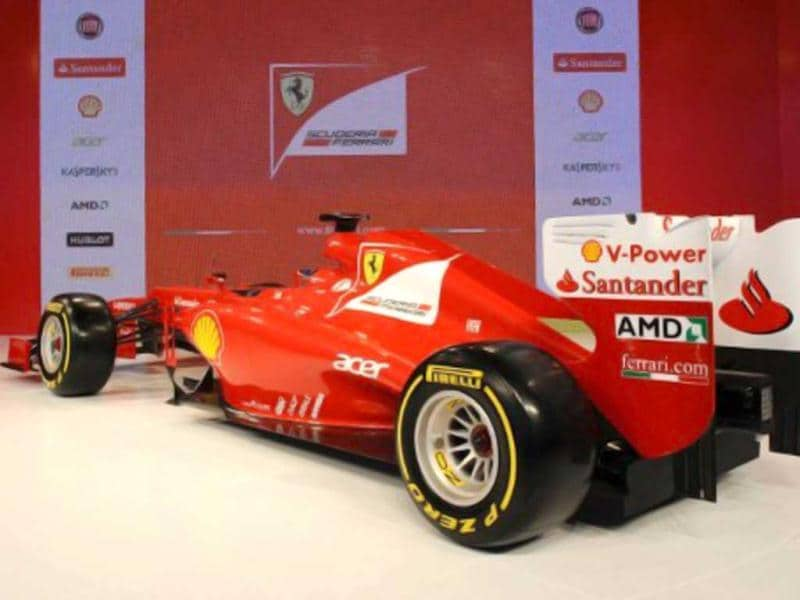 This handout image released by the Ferrari press offic shows the new Ferrari Formula One F2012, unveiled the same day in Maranello. AFP Photo/Ferrari Press Office/Ercole Colombo/HO