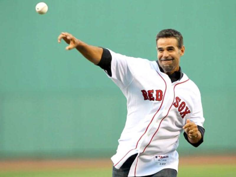 Mike Lowell: The former professional baseball player missed nearly two months of the 1999 season after he was diagnosed with testicular cancer in February the same year. He made a comeback in the game after recovering from the disease. (File photo: AFP)
