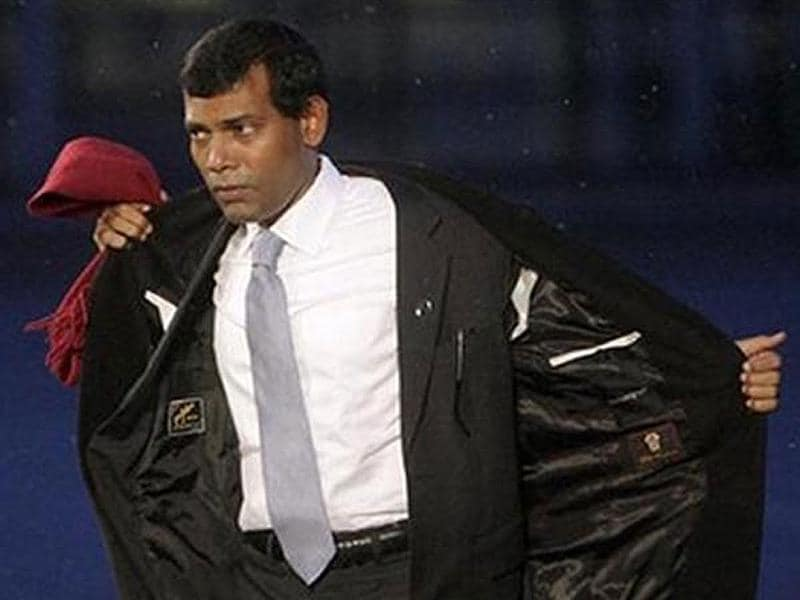 File photo of Maldives President Mohamed Nasheed who resigned after weeks of demonstrations. Agencies