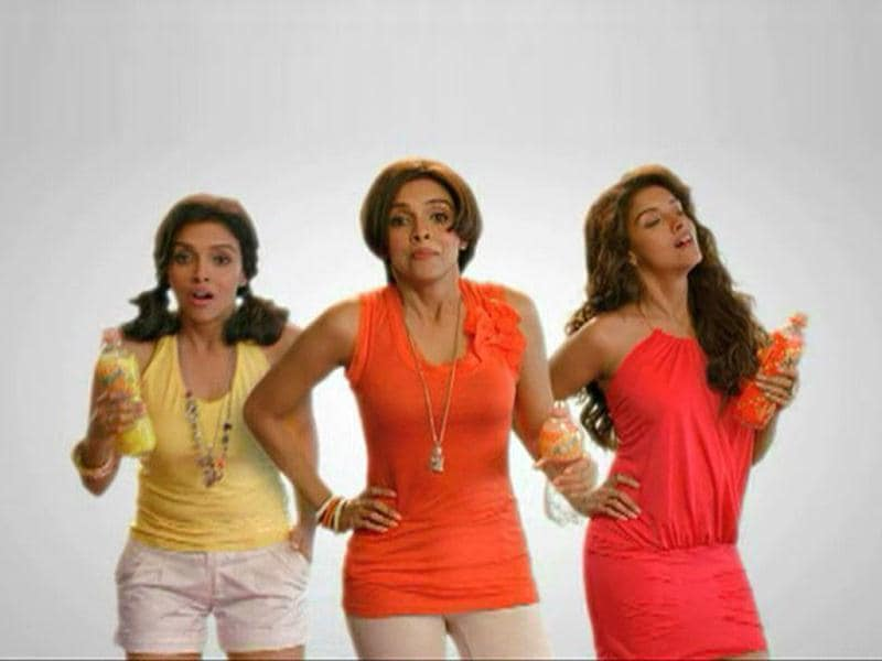Triple role: Asin gets to portray three roles in her new ad, representing three different flavours.