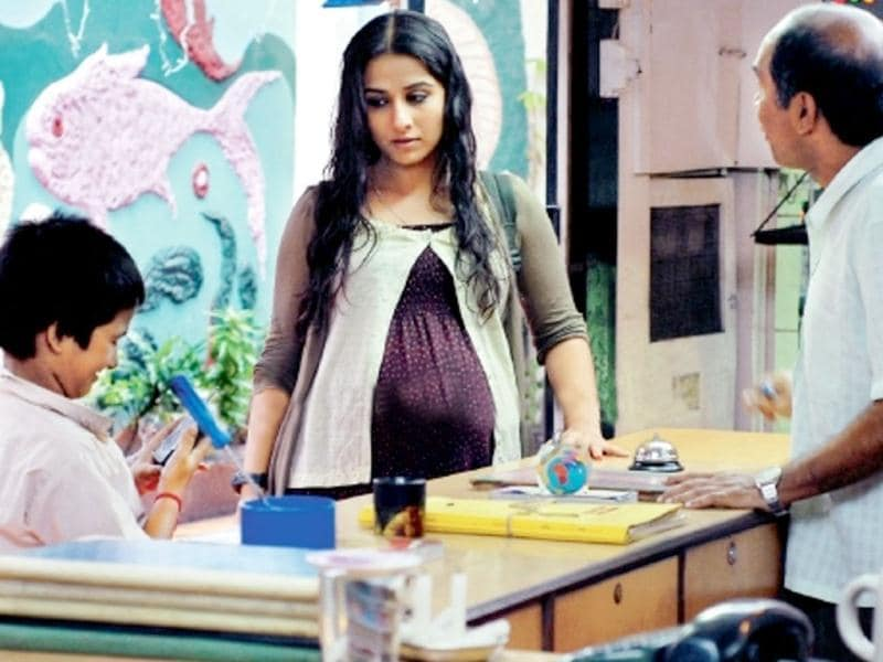 Vidya Balan plays a pregnant woman in search of her husband and the father of the child.