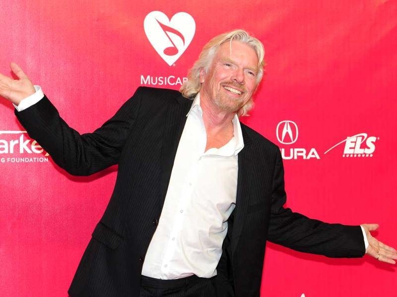 Richard Branson also graced the event.