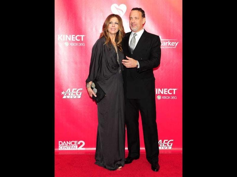 Tom Hanks with Rita Wilson.