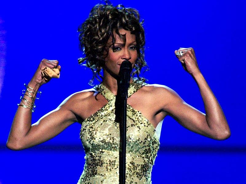 Whitney Houston performs the song