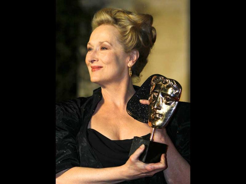 Best Actress Meryl Streep won her third Bafta award, this time for The Iron Lady.