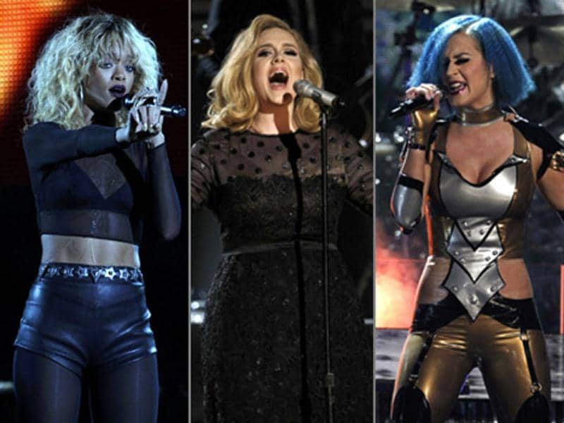 The 54th annual Grammy Awards in Los Angeles was a rocking affair with artists like Adele, Rihanna, Katy Perry, Coldplay an others wowing the audience with their performances. Here's a sneak peek.