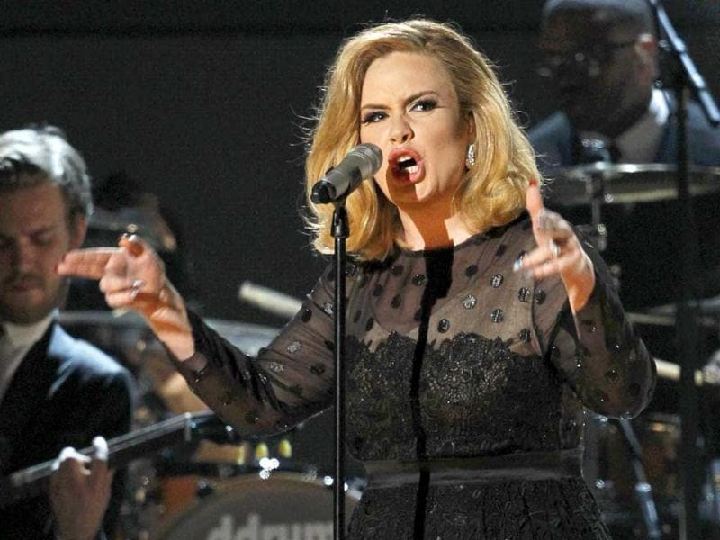 Adele, winner of six Grammys, performs