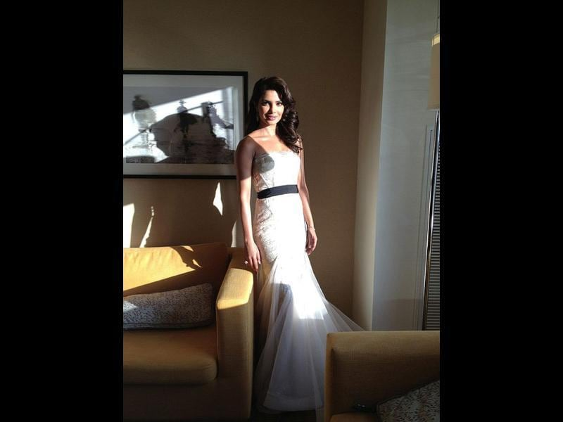 Priyanka Chopra donned a Gauri-Nainika gown at the 54th Grammys. However, she didn't make it to the red carpet as she got late.