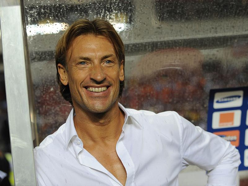 Zambian coach Frenchman Herve Renard smiles before the kick-off at the Africa Cup of Nations (CAN) final football match between Zambia and Ivory Coast at stade deI'Amite in Libreville, Gabon. AFP PHOTO/ Pius Utomi Ekpei