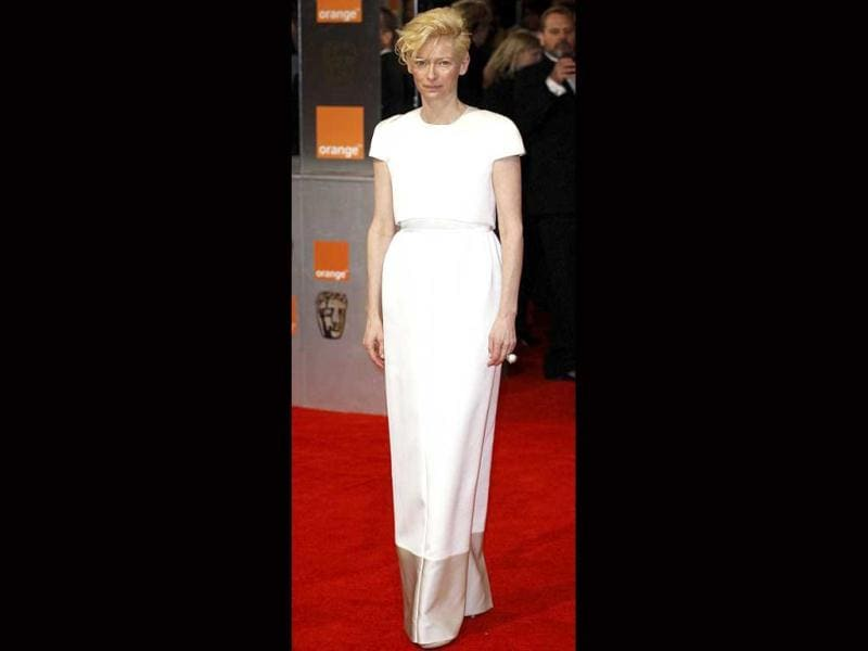 Tilda Swinton seems to have put all the effort in her hair instead of the dress this time.