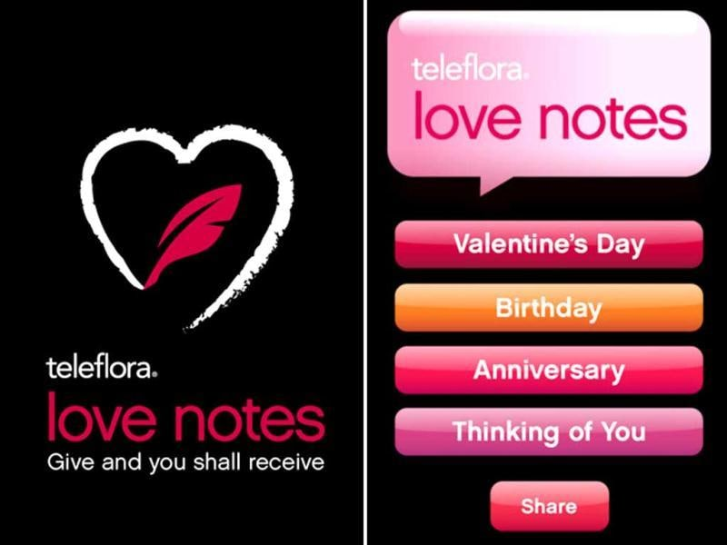 Love Notes by Teleflora: Get discounted flowers and assistance writing a romantic message to go along with them. Use sliders to set your love tone from silly to serious, sexy to sweet, and sweet to Shakespeare. The app does the rest.