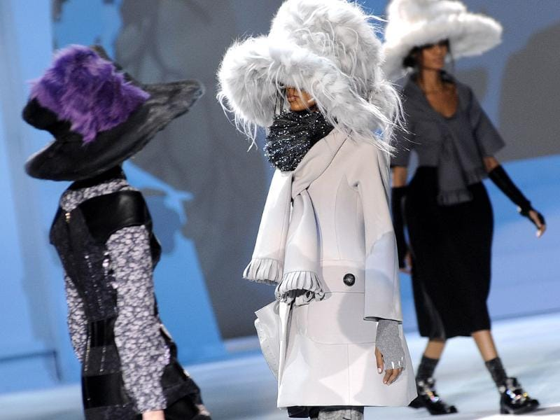 The Marc Jacobs Fall 2012 collection is modeled during Fashion Week, in New York. AP Photo/Louis Lanzano