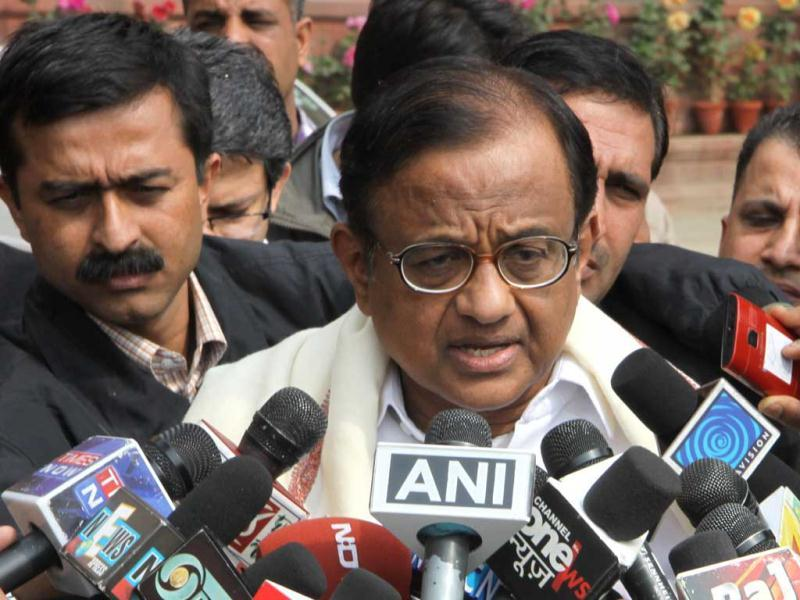 Home minister P Chidambaram speaks to the media after a government security meeting in New Delhi on Tuesday. Chidambaram said special teams have been deployed to find out the identity of the motorcyclist allegedly involved in the car blast. Israel assailed Iran as the world's