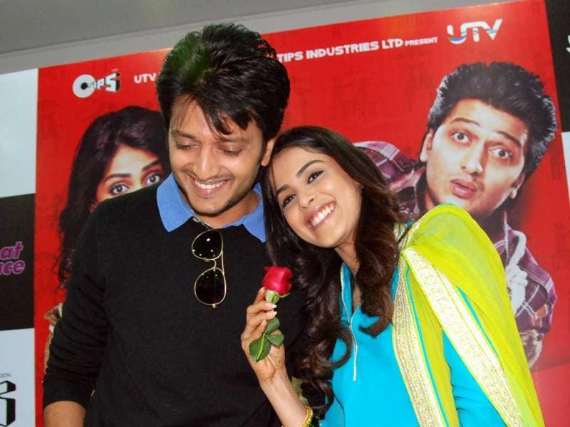 Riteish Deshmukh and Genelia D'Souza spent their first Valentine's Day together at IIPM Saket.