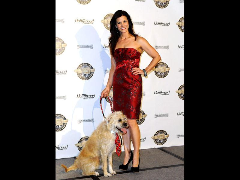 Television personality Lu Parker and her dog Monkey. (Reuters Photo)
