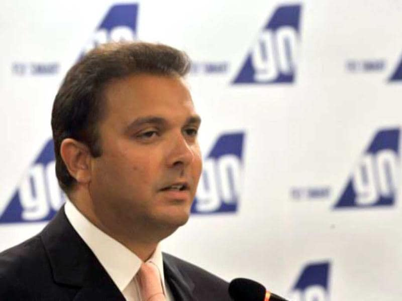 File photo of Jeh Wadia, managing director of budget carrier GoAir, in Mumbai. AFP/Indranil Mukherjee