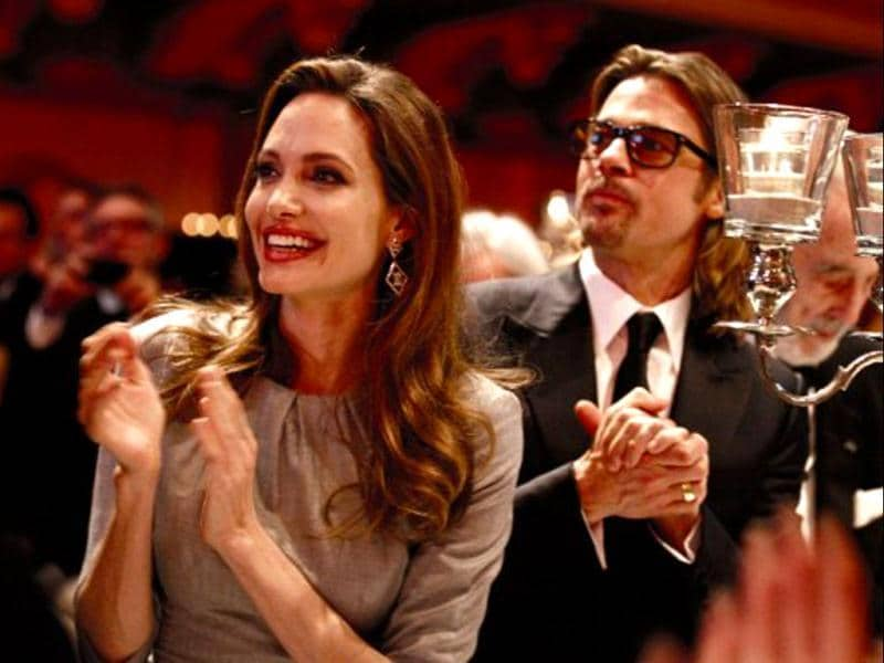 Brangelina cheer at the gala event in Berlin.