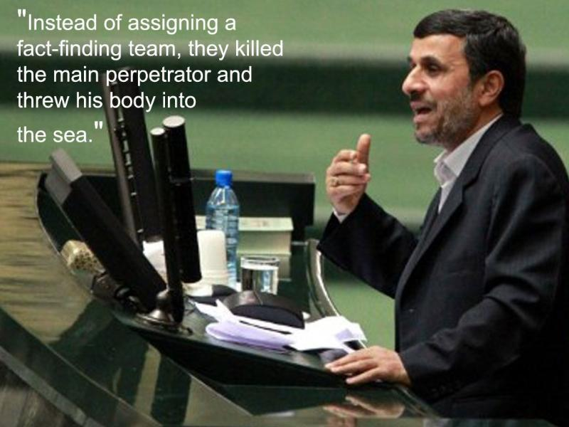 2011: While addressing the UN General Assembly, Ahmadinejad presented his views on Osama bin Laden's killing.