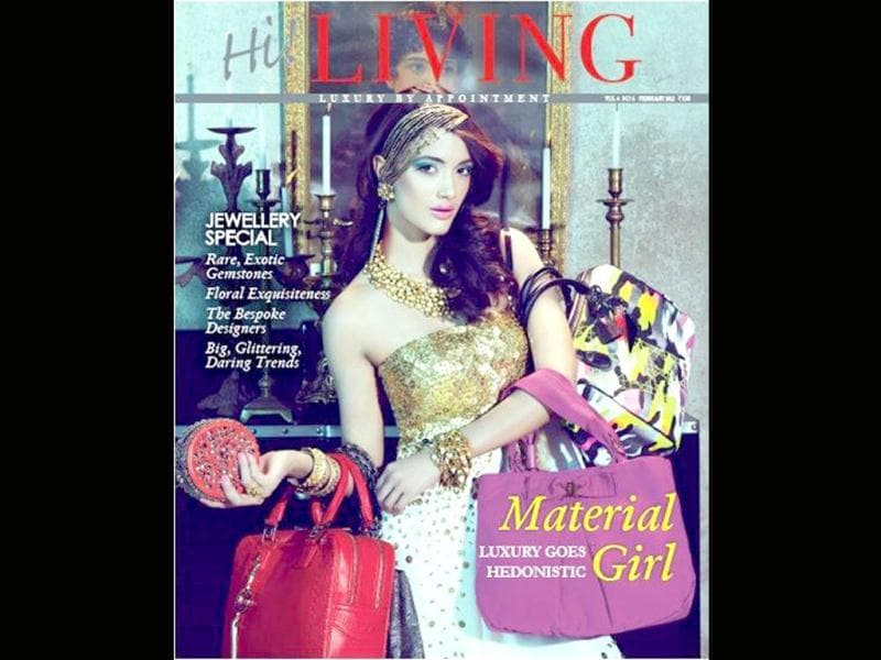 As Angela Jonsson plays the Material girl for the latest cover of Hi! Living.