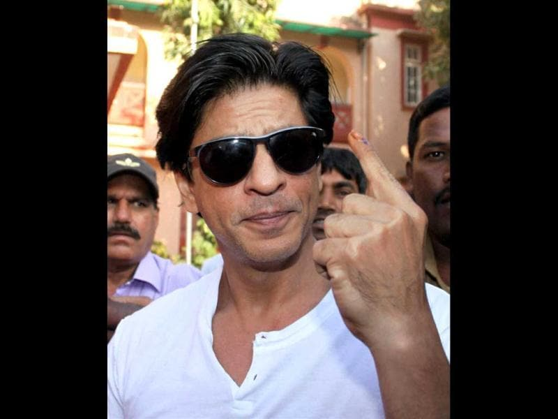 He may crib about being asked to display his finger after voting, but youth icon SRK set an example by voting in the Mumbai elections. Here's a look at other responsible celebs.