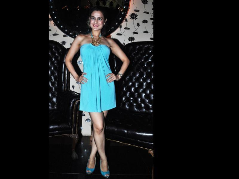 Ameesha Patel at Ashmit Patel's birthday bash at Veda. (Photo: Prodip Guha)