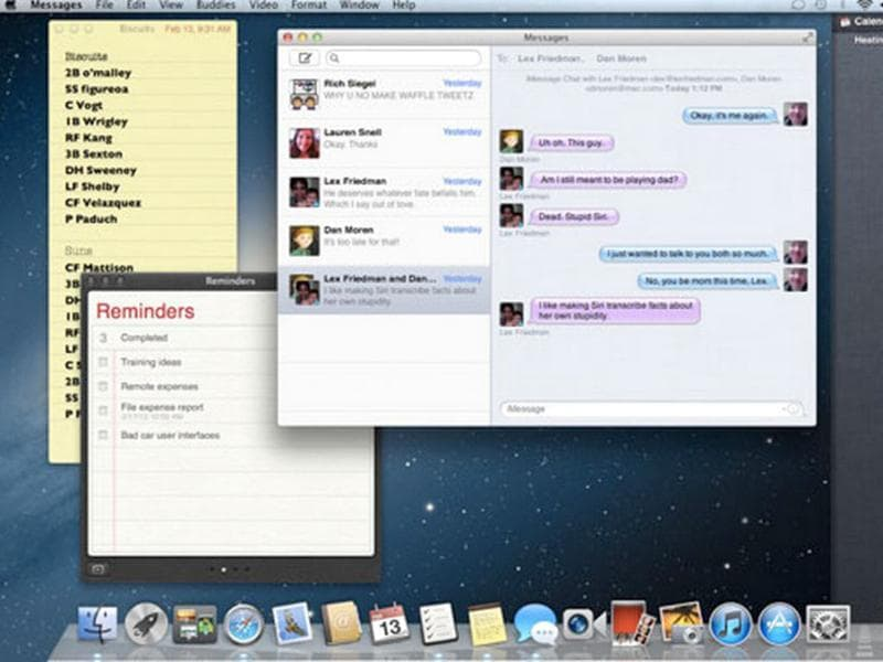 Mac OS X v10.8 (Mountain Lion) - At 8:30 a.m. EST Thursday, the developer preview version of Mountain Lion was live and available to Apple's legions of app makers. It comes up with many new iOS-like features like Reminders, iMessage, Game Center, Notifications, iCloud and Twitter integration.