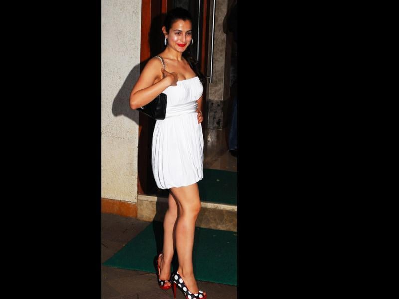 Ameesha Patel at the birthday party of Maanyata Dutt at Imperial Heights, Bandra. (Photo: Prodip Guha)