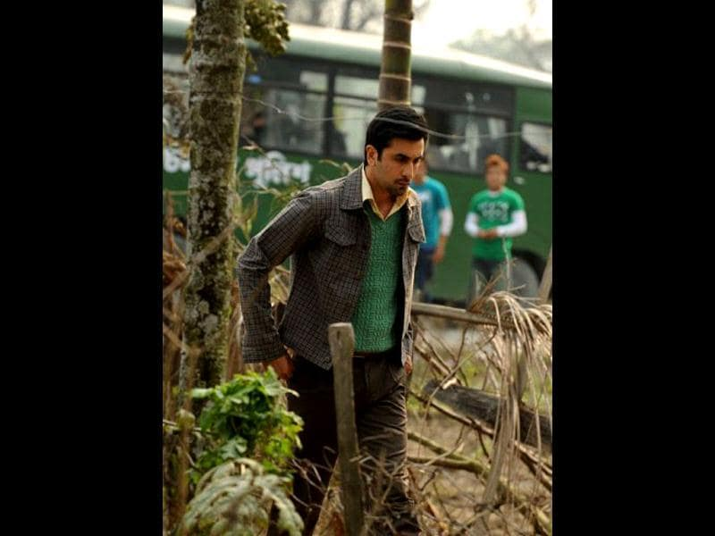 Ranbir caught in a pensive mood.