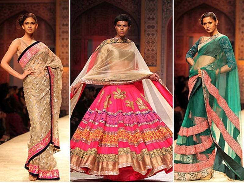 Bollywood designer Manish Malhotra presented his Kashmir inspired collection on Day Three of Wills Lifestyle India Fashion Week.