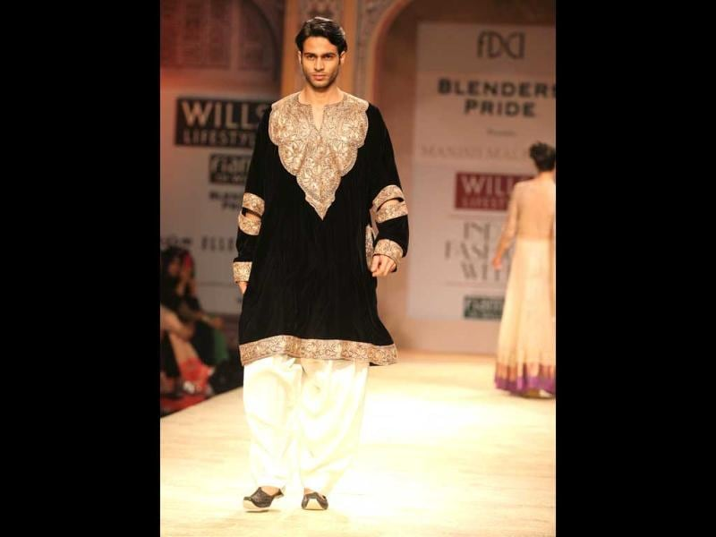 Manish Malhotra also did some Indian wear for men.