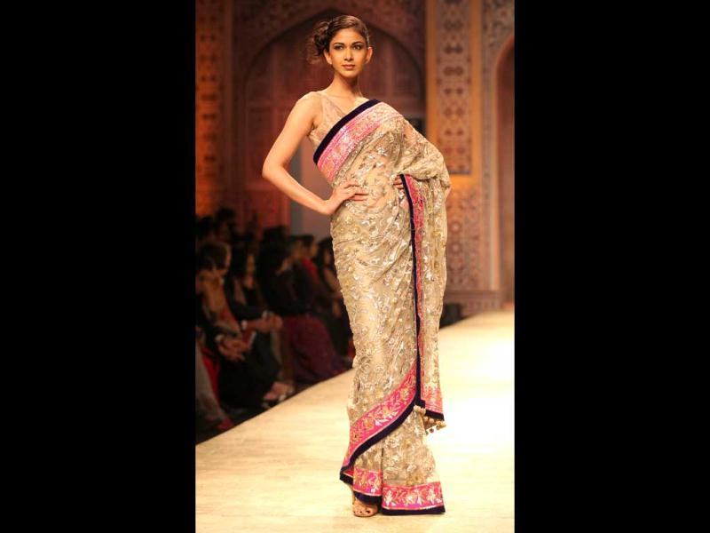 The Indian evening wear collection featured gowns, saris, suits and lehengas.