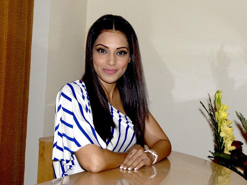 Bollywood actress Bipasha Basu at a promotional event for her upcoming movie Jodi Breakers in Jaipur on Friday.