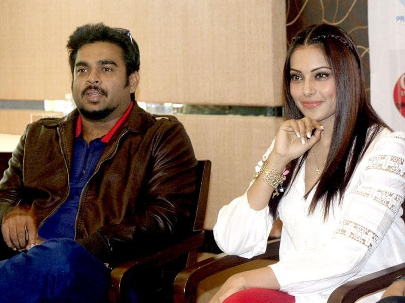 Bollywood actrees Bipasha Basu and actor R Madhavan promoting their upcoming move 'Jodi Breakers' in Ahmedabad.