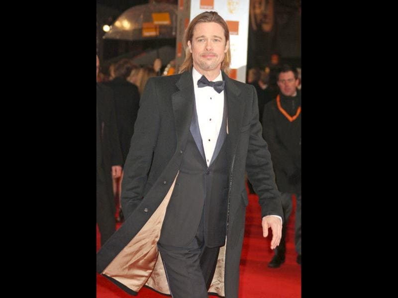Brad Pitt arrives at the BAFTA awards.
